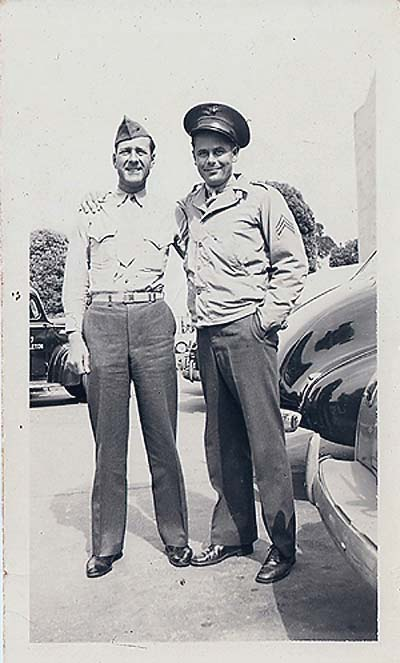 Doye & Glenn Ford in WWII